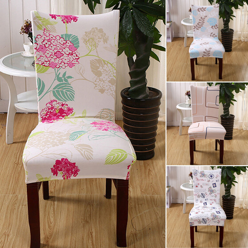 2016 Stretch Short Removable Dining Chair Cover Room Stool Printing For Home Decor Folding Slipcovers Flat