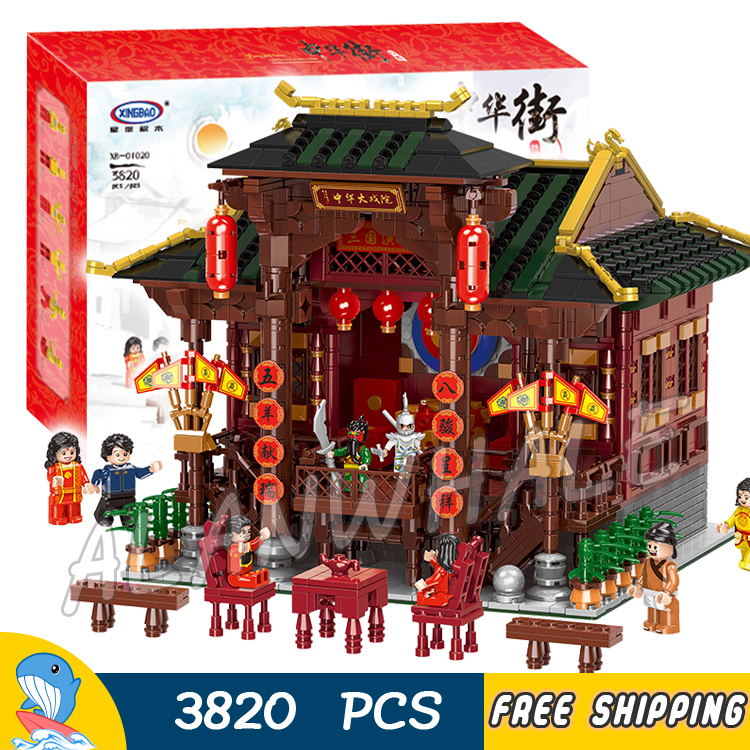 3820pcs China Town Creator Street Ancient Chinese Opera Theater 01020 Model Building Blocks Toys Bricks Compatible With Lego3820pcs China Town Creator Street Ancient Chinese Opera Theater 01020 Model Building Blocks Toys Bricks Compatible With Lego