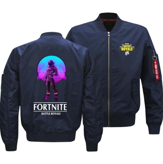 Game Fortnite jacket autumn and winter baseball uniform men's air force pilot battle royale custom printed thick coat