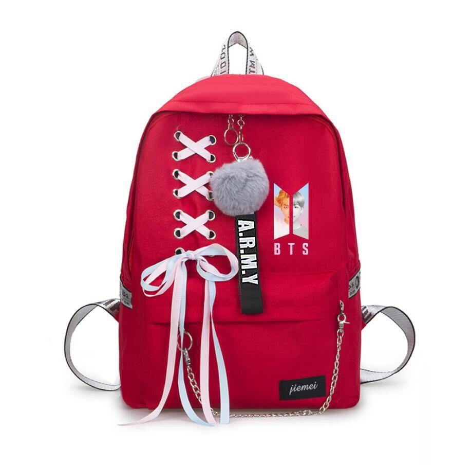 New    Answer   same students cool red shopping travel bag backpack Harajuku canvas bagNew    Answer   same students cool red shopping travel bag backpack Harajuku canvas bag