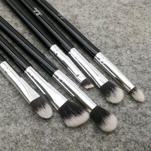 Image 3 - Sylyne makeup brush set 10pcs high quality professional makeup brushes classic black foundation make up brush kit tools.