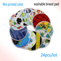 2016 pororo 30 colors PUL printed waterproof breast pad, Bamboo reusable nursing pad for mum, breast nursing pads 24pcs/lot