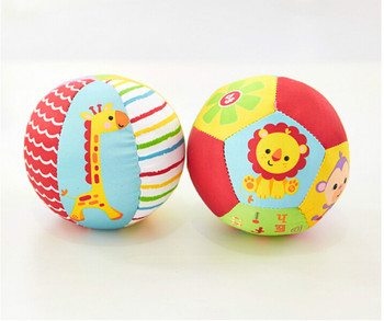 0-12 Months  Baby Toys Animal Ball Soft Stuffed Toy Balls Rattles Infant Babies Body Building Ball 1
