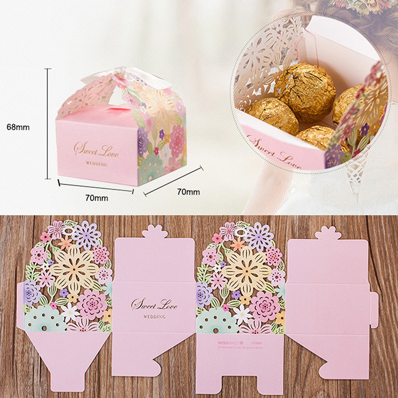 Wedding Invitations Favor and Gifts Vine Flower Candy Boxes Paper ...