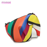 PINSHE Girl Small Women Messenger Bags Girl Cute Cartoon Elephant Packs Leather Shoulder Bag Women S