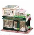 Большой ручной работы Diy кукольный дом с легкой музыкой собраны 3D миниатюрная модель строительство комплект кукольный домик игрушки рождественские подарки