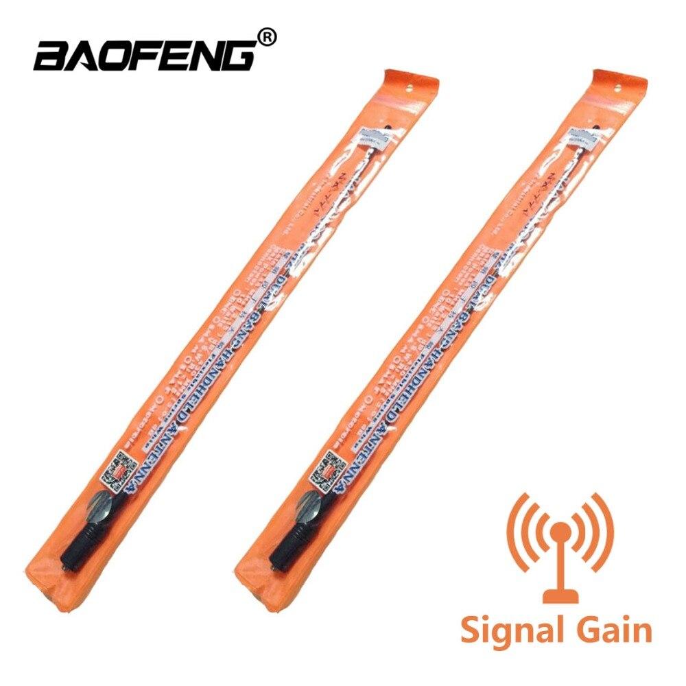 2 piezas Walkie Talkie NA-771 ganancia Baofeng antena señal ampliar NA771 SMA-F Universal Radio portátil UV-5R UV-82 BF-888S