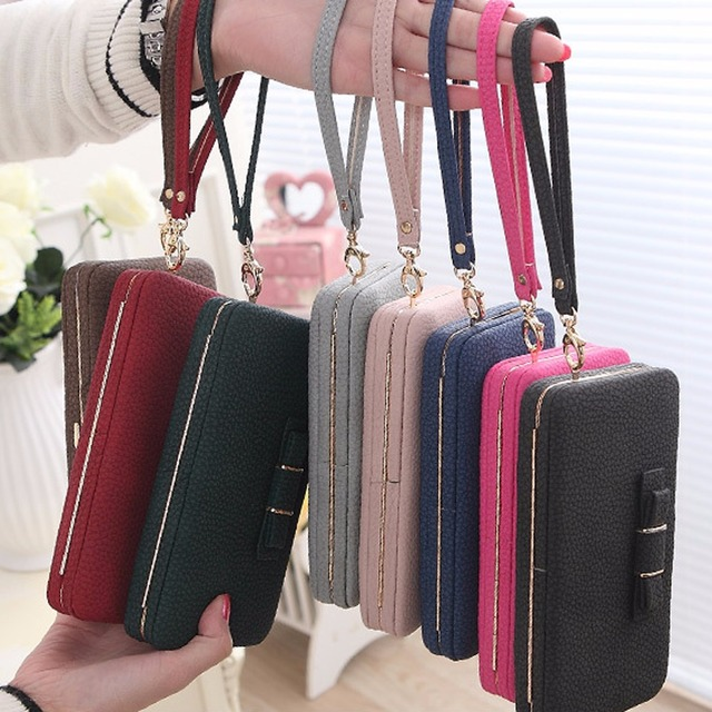 Women Purse and wallet female famous brand card holders cellphone pocket PU leather women money bag clutch women wallet 5