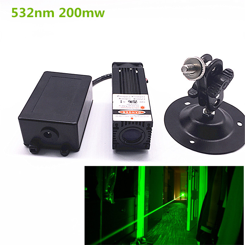 200mW  532nm Green Laser Module 12V Input  Room Escape/ Maze props/ Bar dance Lamp russia hotsale perfect performance green laser light array real chamber escape room laser propslaser gun tag maze game brazil