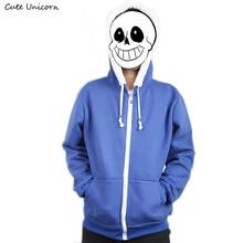 Undertale Sans papirus bluza z kapturem unisex niebieski płaszcz Cosplay kurtka bawełniane bluzy z kapturem zimowe bluzy casual boys clothes