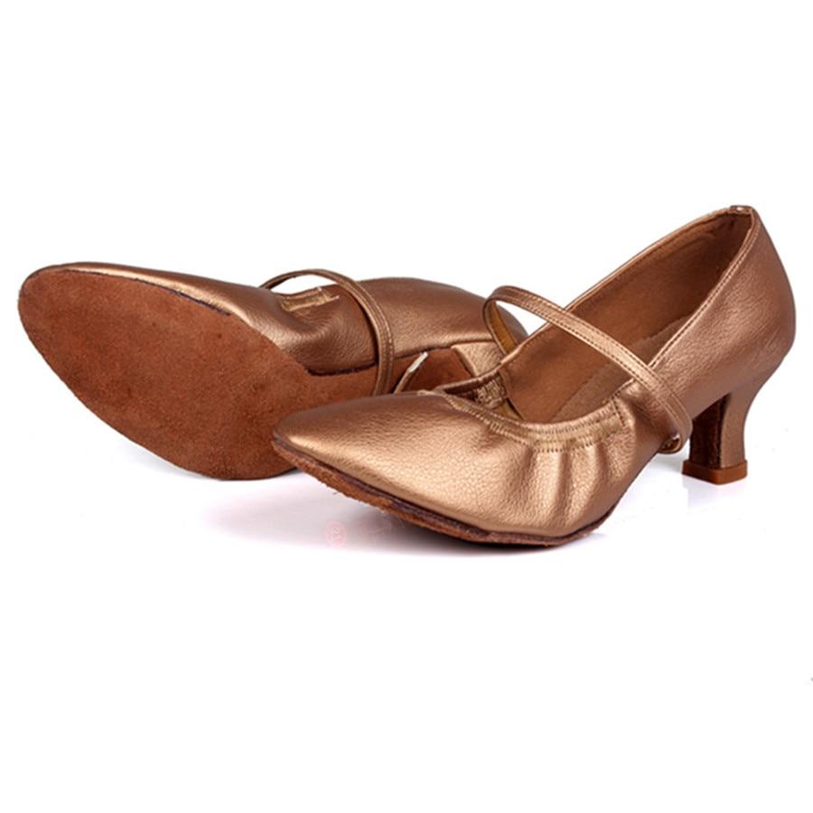 Promotion Price Brown Latin Dance Shoes Woman Salsa Ballroom Dancing Shoes Zapatos De Baile Latino Mujer Free Shipping