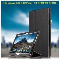 Genuine Leather Book Cover Case For Lenovo Tab 4 10 Plus TB X704F Tb X704n 2017