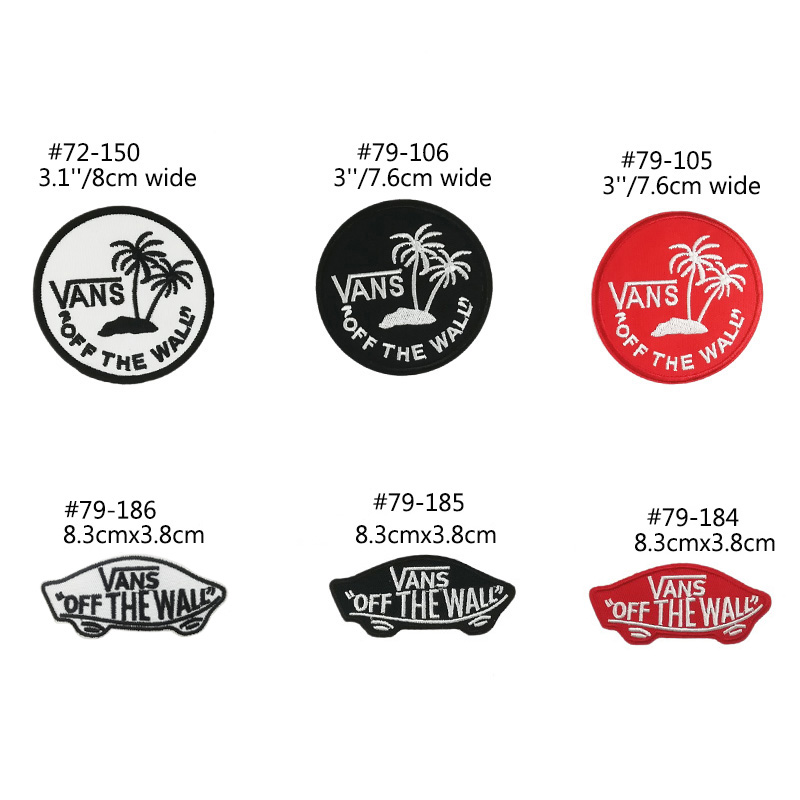 VANS Off The Wall Patches Go Hiking Travel Souvenir badge Mountain ...