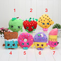 20cm 12 Styles Fruit Ice Cream Strawberry Lipstick Donuts Chocolate Apple Plush Dolls Stuffed Toys For Children Birthday Gift