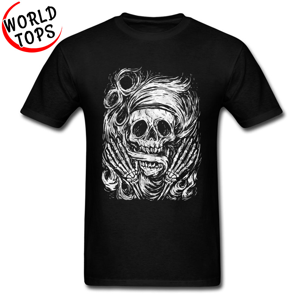 0133ec455c3 US $18.18 39% OFF Flowing Older Skull New Arrival Adult Tshirts Top Quality  Fashion Cool T Shirt Hip Hop Geek Print Tshirt Best Christmas Gift-in ...