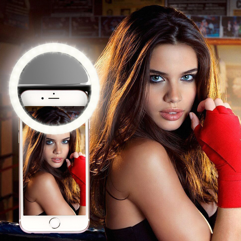 Selfie Ring Mobile Phone Clip Lens Light Lamp Led Bulbs Emergency Dry Battery For Photo Camera Well Smartphone Beauty Will