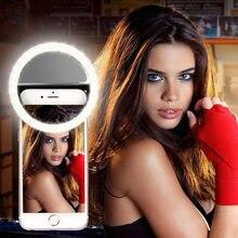 Selfie anneau téléphone portable pince lentille lumière lampe Led ampoules d'urgence batterie sèche pour appareil Photo bien Smartphone AAA beauté sera