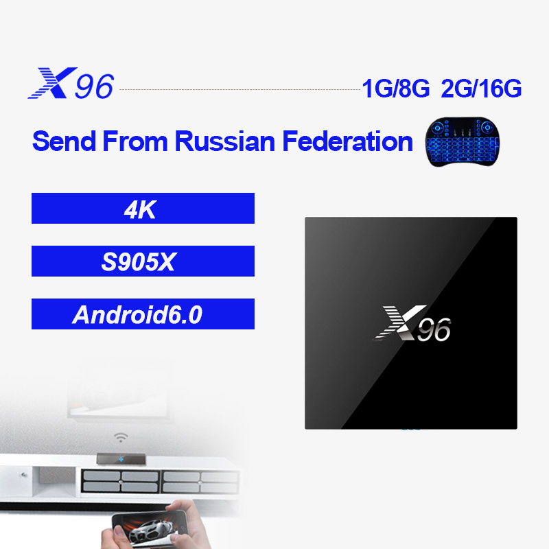 X96 Android Amlogic S905X 2G 16G 4K*2K Quad Core Support 2.4WIFI+IR Cable Smart Set Top TV BOX Media Player PK TX3 MINI H96