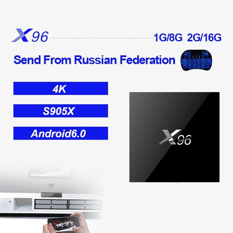 X96 Android Amlogic S905X 1g 8g 4 karat * 2 karat Quad Core Unterstützung 2,4 WIFI + IR kabel Smart Set-Top-TV BOX Media Player PK TX3 MINI H96