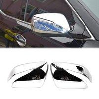 ABS Chrome Rearview Side Wing Mirror Cover for Hyundai IX45 Santa Fe 2013 2014 2015 Exterior Molding Trim