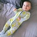 Bebé En General 2017 Estilo de Otoño de Algodón Monos Recién Nacidos Niños Niñas Mameluco Del Bebé pijama de manga larga niños trajes detalle