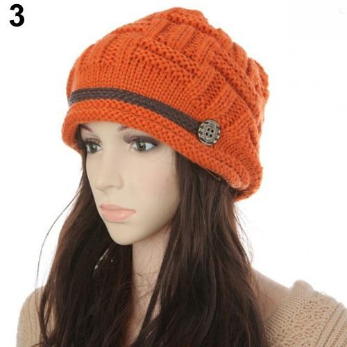 Women s Fashion Braided Autumn Winter Warm Baggy Beanie Knit Crochet ... 8ecd433c060c