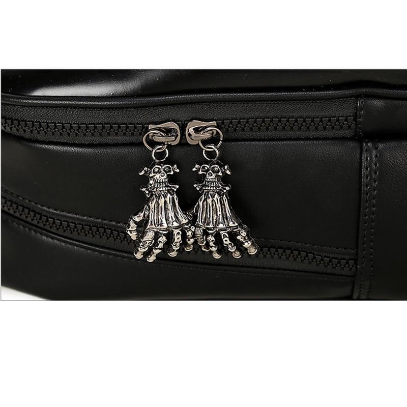 Мужской рюкзак большой емкости женский 15 ноутбук сумка для компьютера заклепки индивидуальные, трендовые головы призрака забавные черные/Золотые сумки с черепом - 4