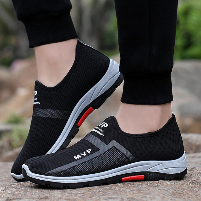 PINSV Casual Shoes Men Sneakers Black Air Mesh Shoes Men Loafers Footwear Fashion Sneakers Male Shoes Sapato Masculino