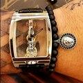 6MM Micro Pave Black Cubic Zirconia Lion Head Emperor Stone 2016 New Atolyestone Bracelets Men Micro Pave CZ Lion Head Charm
