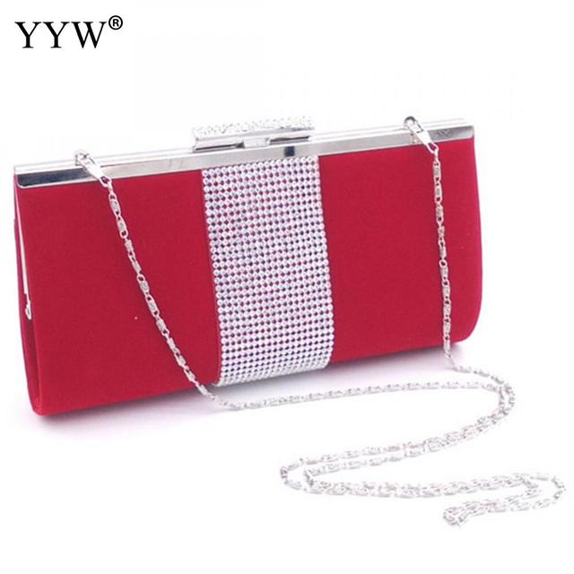 b7c6020ec411 Brand Fashion Female Evening Party Bag Red Velour Women Handbags Blue Frame Bag  Black Crossbody Bags Women Small Clutch Bag