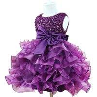 Flower Girls Wedding Dress Baby Girls Christening Cake Dresses For Party Occasion Kids 1 Year Baby