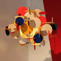 Fashion Colorful Modern Wood Pendant Lights Lamparas Minimalist design shade Luminaire Dining Room Lights Pendant Lamp