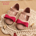 New Arrival Kid Party Shoes Wholesale 5Pairs/lot Bowknot Baby Girl Shoes 100% leather princess Child shoe Size 24-34