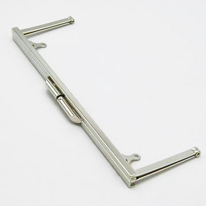 """8 """"x 3"""" 실버 메탈 클러치 지갑 프레임 10 개의 니켈 pures 프레임/지갑 핸들 세트-에서가방 부품 & 액세서리부터 수화물 & 가방 의  그룹 1"""
