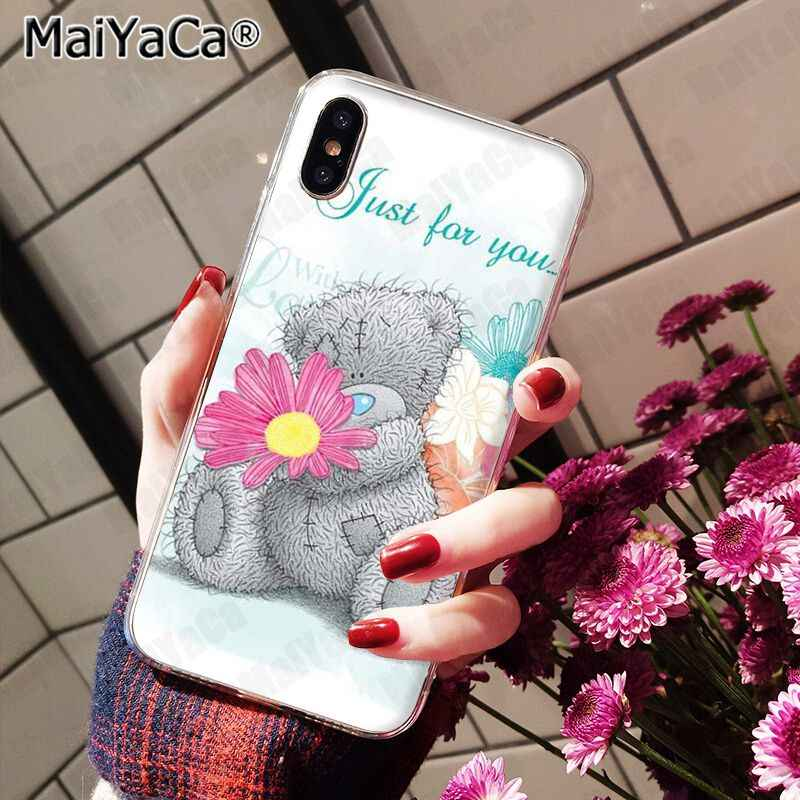 MaiYaCa siliconen telefoon geval Lage groothandel Tatty Teddy Ik Je Beer voor iphone 11 pro 8 7 66S Plus X 10 5S SE 5C XS XR XS MAX