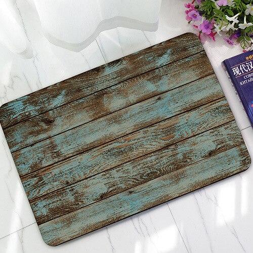 Hot Sale Old Wood Floor Doormats Print Custom Vintage Doormat Non Slip Pad Floor  Mat Hallway Kitchen Living Room Carpet Mats In Mat From Home U0026 Garden On ...