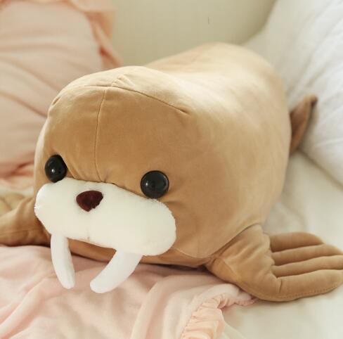 Aquatic Creatures Plush Pillow Sea Lion Walrus Pillow Doll Soft Body
