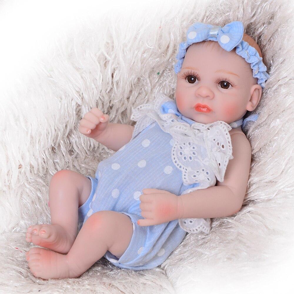 27 cm lovely preemie reborn doll 11 inch full silicone body newborn