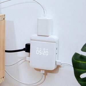 Image 5 - Tomada de parede wifi multi função casa inteligente tomada wifi casa placa de fiação usb inteligente desktop tomada de escalada de parede multi plug strip