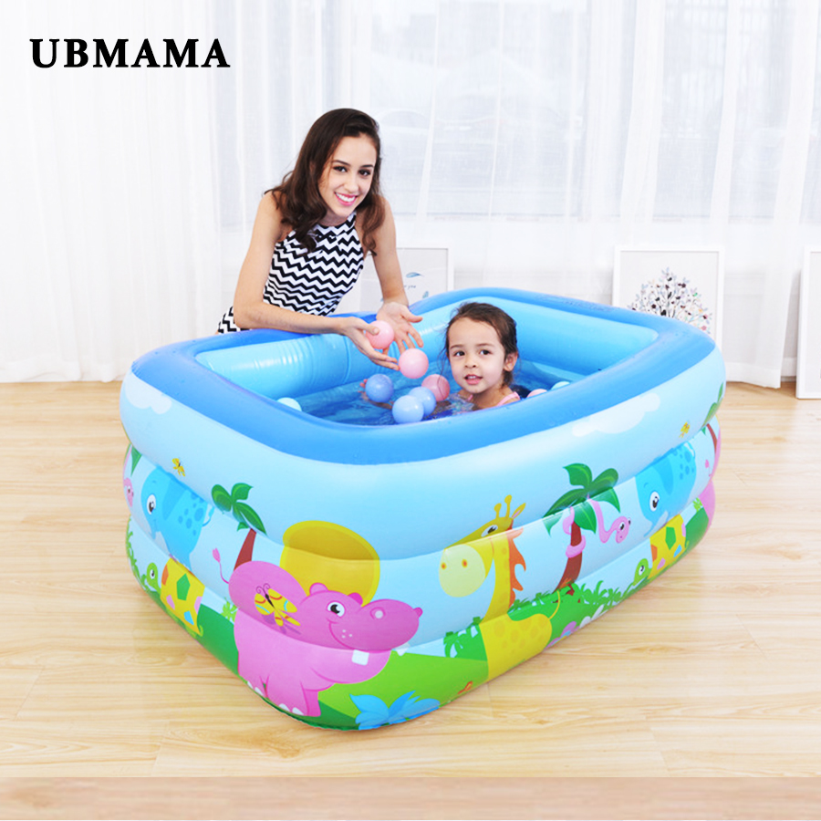 Family Swim Center Inflatable Pool Large Inflatable Bubble Bottom Drain Hole Kids Swimming Pool Children's Water Ball Play Pool