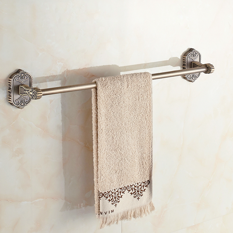 Towel Bars Luxury Wall Mounted Golden Single Towel Bar Solid Brass Bathroom Accessories Wall Mounted Towel Holder 3310 мужские часы romanson tl2632mc wh