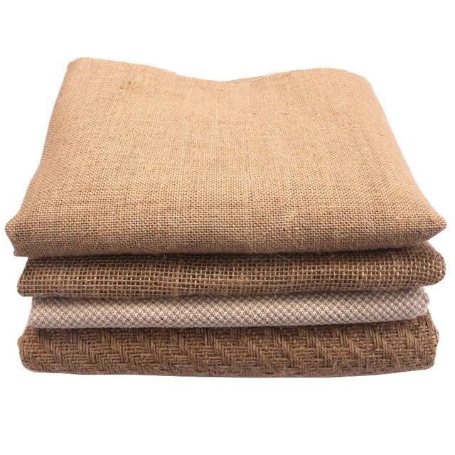 Online Shop Half Meter Textiel Jute Mesh Stof Voor Gordijn Tas ...