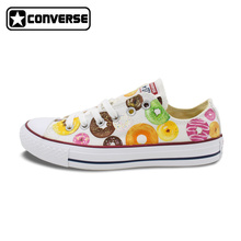 Low Top Donut Original Design Converse All Star Women Men Shoes Hand Painted Shoes Girls Boys Sneakers Woman Man Christmas Gifts