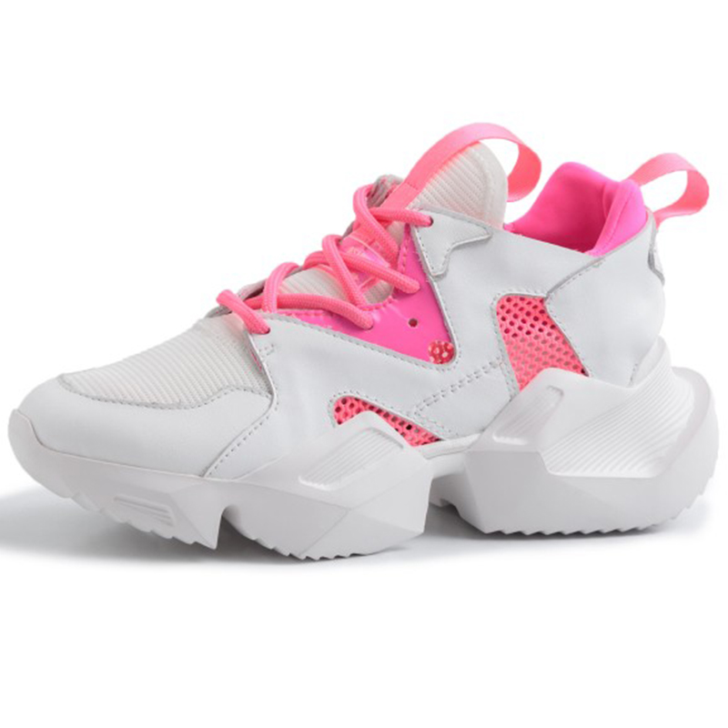 2019 Spring Style Round Toe 5CM Heel Rose Blue Chunky Sneakers Black Dad Shoes Women Vulcanize Shoes Tenis Feminino GO2H9