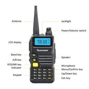 Image 3 - Quansheng UV R50 Walkie Talkie VHF UHF Dual Band Long Range UVR50 Handheld Ham 2 Way Radio UV R50 uv 5r 5W Transceiver Huntin