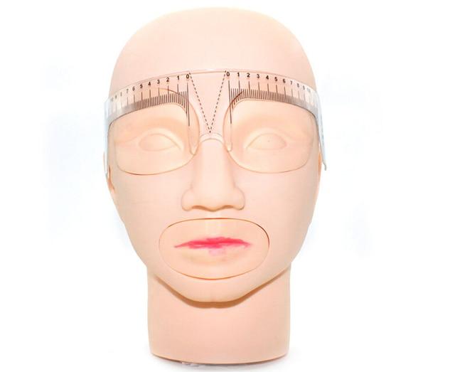 10 pcs Eyebrow Grooming Stencil Shaper Ruler Measure Tool Makeup Reusable Eyebrow Ruler Tool Measures 3