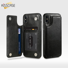Retro PU Leather Case For iPhone X 6 6s 7 8 Plus Multi Card Holders Case Cover