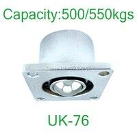 UK 71 3 Flanged 500 550kgs Capacity Ball Downwards Plateform Bearing Caster Ball Downside Facing Ball
