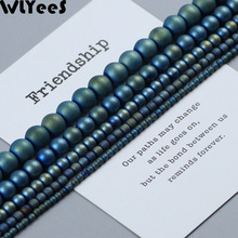 WLYeeS Matte Plating Green Hematite Round Beads Natural Stone 2 4 6 8 10mm Loose beads for DIY Jewelry Necklace Bracelet Making
