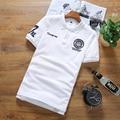 Новый 2016 летом вышивка desgin уменьшают подходящие свободного покроя с коротким рукавом рубашки поло мужчин поло homme мужская одежда размер s-5xl 7-colors / DPL6